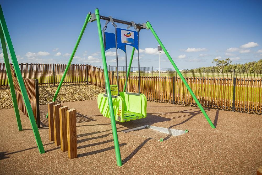 Deep Creek playground has an all abilities swing