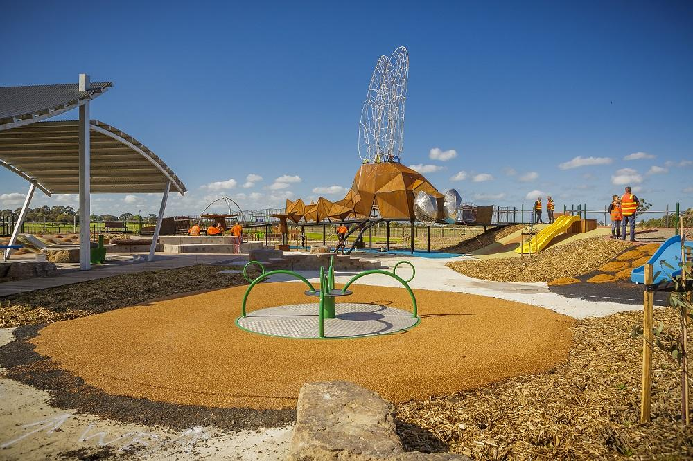 Deep Creek playground features an all abilities play equipment with lots of areas to play