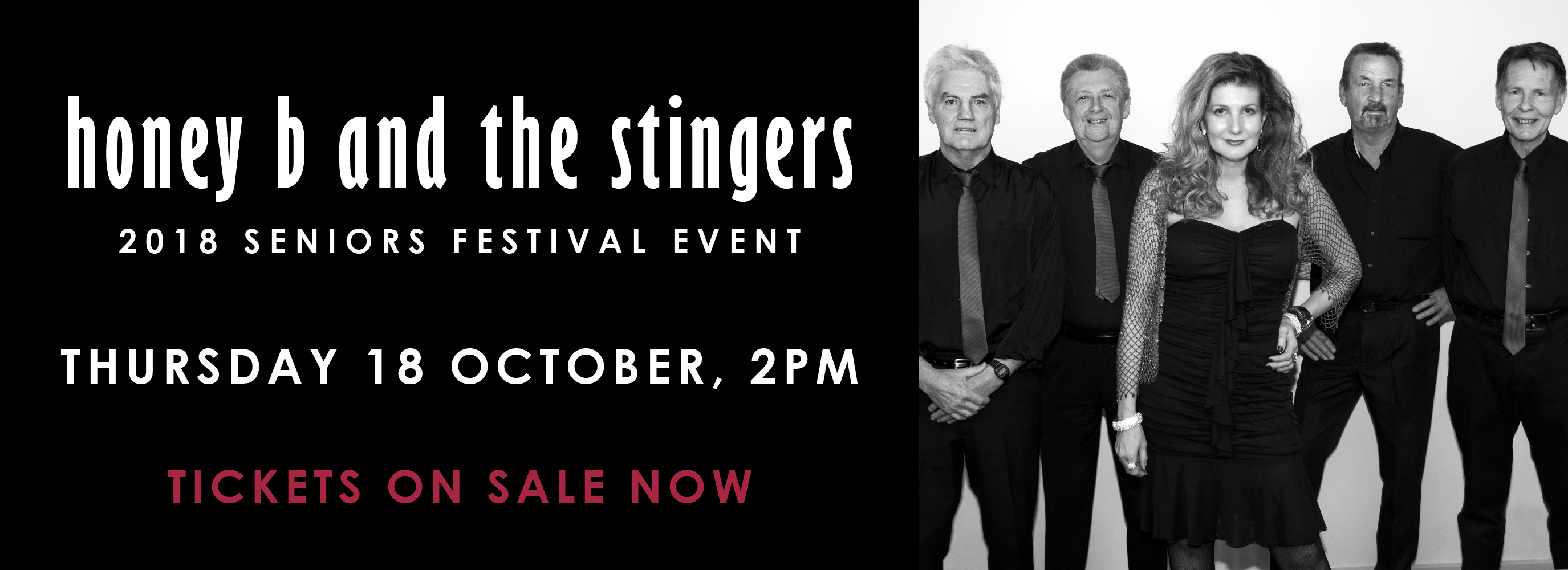 Honey B and the Stingers, Thursday 18 October, 2pm