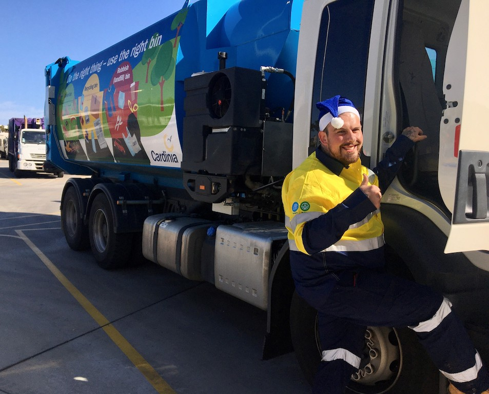 Driver Sean gets into the Christmas spirit as Cardinia Shire residents are urged to play their part when it comes to reducing the environmental impact this Christmas.