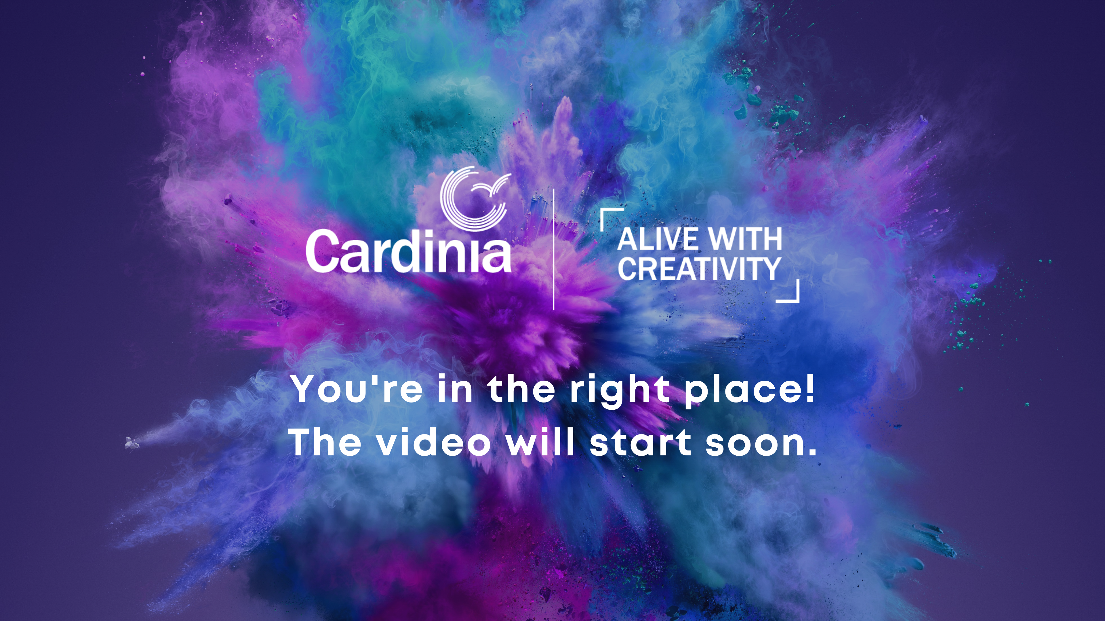 Your Alive with Creativity video will start soon.