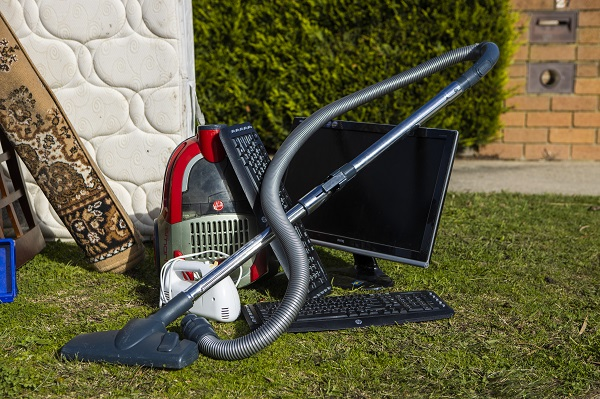 Pic of vacuum cleaner and computer out for hard waste collection